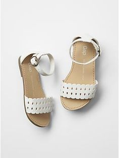 Scalloped sandals $24.95