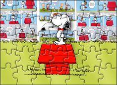 Quebra-cabeça Snoopy: