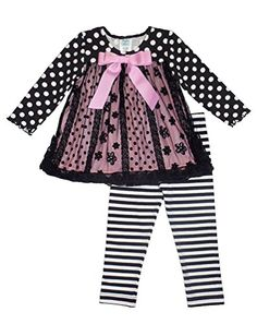 Peaches n Cream Little Girls' Black Pink Dot Stripe Flocked Leggings 2-pc outfit, 4T Peaches 'n Cream http://www.amazon.com/dp/B00O6M0YFY/ref=cm_sw_r_pi_dp_SPoDwb1DPYAEW
