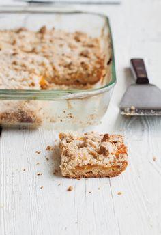 Peach-Brown Butter Shortbread