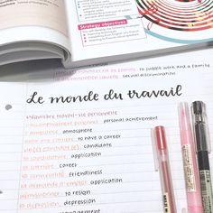 peachystudy: french vocab galore!!! ig: peachystudy