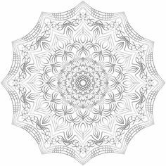 Mandala nr 6 for coloring