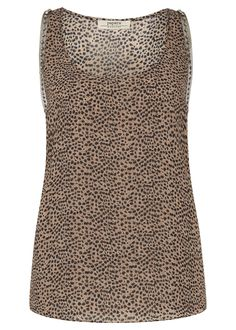 Studded Double Layer Vest Top