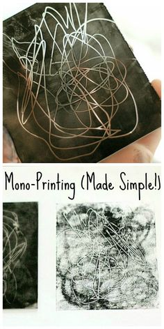 Mono-printing for Kids: Intro to printmaking using a variety of materials- no need to run out for special supplies!