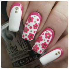 pink, white & gold floral ruffian