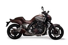 #Brown #covering for this #Yamaha V Max Hermes, this is for all the sophisticated bikers ;)