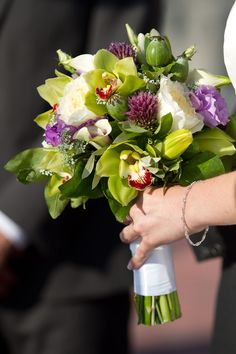 Orchid, poppy pod and allium bouquet Orchid, poppy pod and alliu Allium Flowers, Portfolio Images, Event Design, Wedding Photos, Wedding Ideas, Real Weddings, Poppies, Orchids, Wedding Flowers
