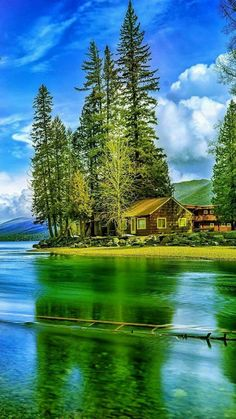 Beautiful home by the Water ~ Beautiful Nature Pictures, Beautiful Nature Wallpaper, Amazing Nature, Nature Photos, Beautiful Landscapes, Beautiful World, Pretty Pictures, Nature Nature, Landscape Art