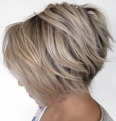 Feathered Stacked Bob with Voluminous Crown