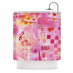 Kess InHouse Nic Squirrell Sweet Dreams Pink Shower Curtain
