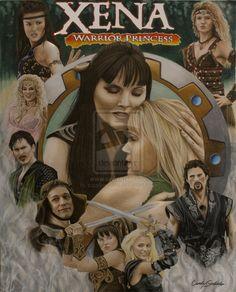 Xena Warrior Princess: Cast Artwork by captaincaliena