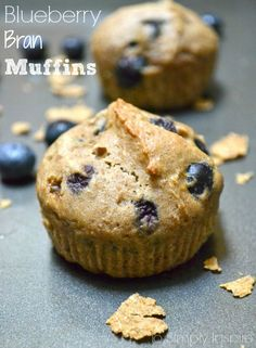 These Blueberry Bran Muffins are deliciously moist and fluffy. A perfect low-fat breakfast or snack option with added fiber.