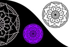 Mandala vector designs images, Free for Download. Good for circuit cutter ploter, printing. Easy Mandala Design Simple Mandala, Affinity Designer, Mandala Design, Vector Design, Circuit, Vector Free, Printing, Image, Stamping