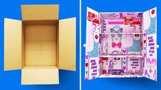 29 CARDBOARD BOXES CRAFTS Turn cardboard boxes into household items We see cardboard boxes as temporary containers; whether they are for shipping items or moving items into a different… Cardboard Organizer, Cardboard Box Crafts, Cardboard Furniture, Playhouse Furniture, Cardboard Playhouse, Barbie Furniture, Diy Karton, Diy Shoe Rack, Desk Organization Diy