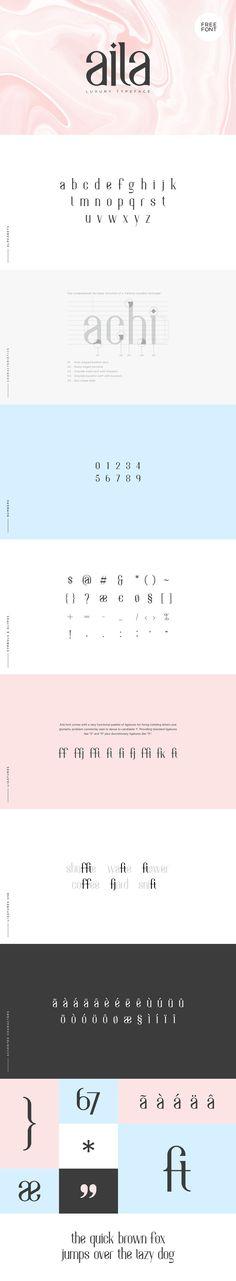 Aila - Free Luxury Typeface -