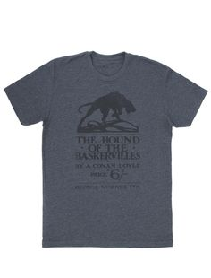 Look what I found from Out of Print! The Hound of the Baskervilles men's book t-shirt – Out of Print #OutofPrintClothing