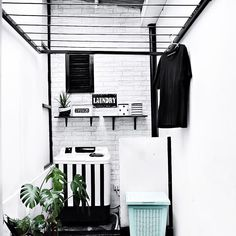 inspiring small laundry room design – Home Design White Laundry Rooms, Laundry Room Bathroom, Laundry Room Organization, Small Laundry, Bathroom Small, Bath Room, Home Design, Design Ideas, Design Design