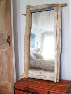 Custom Driftwood Mirror www.hundredacredesign.com