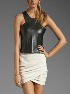 d8a6f439245 22 Best women leather tops images in 2013 | Leather tops, Suede ...
