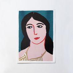 Léa Maupetit - Woman's Portrait (risoprint)