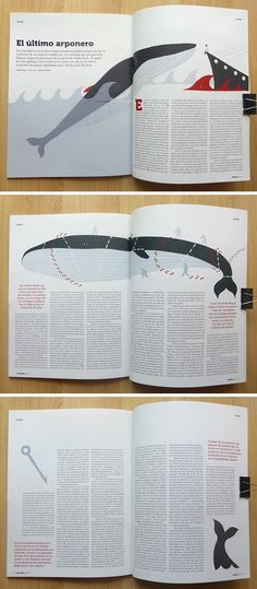 Marta Antelo continues collaborating with the economy and environment magazine Ballena Blanca, for the last issue, Marta creates these series of illustrations for a story about the last Spanish whales harpooner that is still alive. The whales hunt is forbidden in Spain since practically thirty years.