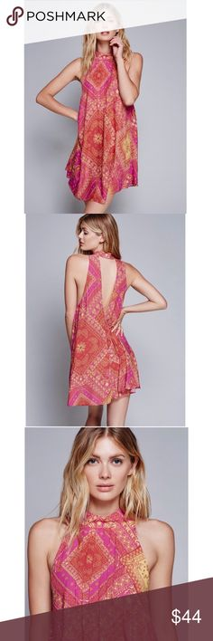 HP🎉🎉 FREE PEOPLE DRESS Brand new w/ tags!!!! GORGEOUS dress for summer. See 8th photo for all measurement details. I purchased from another posher, but I needed a different size😩 Free People Dresses Mini