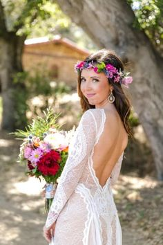 Rustic Boho Wedding Rustic Boho Wedding, Boho Bride, Bohemian Wedding Inspiration, California Wedding Venues, Grace Loves Lace, The Ranch, Real Weddings, Wedding Gowns, Flower Girl Dresses