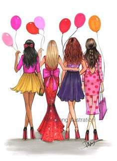 Paper Fashion, Fashion Art, Fashion Prints, Best Friend Drawings, Bff Drawings, Fashion Illustration Tutorial, Illustration Art, Illustrations, Fashion Sketches