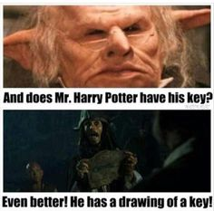 He has a DRAWING of a key. Totally works.