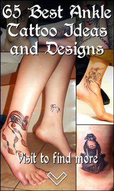 65 Best Ankle Tattoo Ideas and Designs Ankle Tattoos, Skull Tattoos, Girl Tattoos, Tattoos For Guys, Tattoos For Women, Bone Tattoos, Modern Tattoos, Feminine Tattoos, First Tattoo