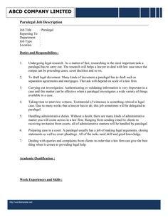 litigation paralegal resume template httpwwwresumecareerinfolitigation