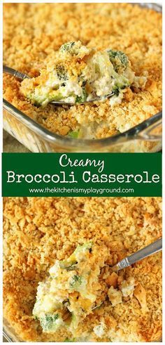 Creamy Broccoli Casserole ~ A family-favorite! With its cheesy broccoli goodness. Creamy Broccoli Casserole ~ A family-favorite! With its cheesy broccoli goodness and buttered cracker crumb topping, Easter Dinner Recipes, Healthy Dinner Recipes, Holiday Recipes, Cooking Recipes, Sides For Easter Dinner, Desserts For Easter, Easter Dinner Ideas, Easter Appetizers, Easter Food