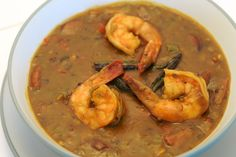 Creole cooking is a wonderful thing--you've got traditional Mediterranean influences (e. French, Spanish, Italian) strong, zesty southern elements (e. Bountiful Baskets, Creole Cooking, Butternut Squash Soup, Thanksgiving Menu, Yummy Eats, Soups And Stews, Gumbo Recipes, Main Dishes, Seafood