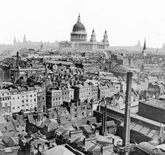 A photo overlooking the rooftops of Victorian London in the year in which The Battles of Ben Kingdom: The Claws of Evil is set. Victorian London, Vintage London, Old London, London City, Victorian Life, East London, London Pictures, Old Pictures, Old Photos
