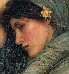 JOHN W. WATERHOUSE (1849-1917) Bóreas, 1903 (detalle) Óleo sobre lienzo