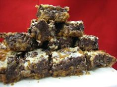"""Chocolate Pecan bars - just one of the many CHOCOLATE items available in """"The Chocolate Room"""" at www.southtexasgourmetandorganics.com"""