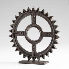Gear Sculpture by Cyan Design - Seven Colonial Sculpture Art, Sculptures, Art Object, Bronze Finish, Decorative Objects, Colonial, Gears, Train Bedroom, Mirror