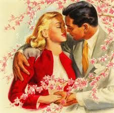 1950's Romance #Blossoms #kiss