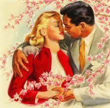1950's Romance #Blossoms #kiss