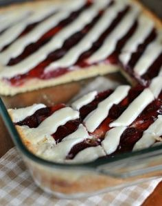 Strawberry Pie Bars-these sound delicious! can swap flavors with other fruit pie fillings