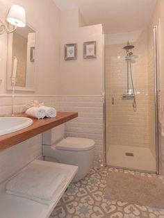 Cuarto de baño con toque retro