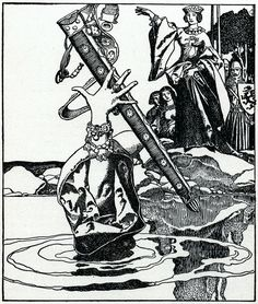 Howard Pyle illustration from the 1903 edition of The Story of King Arthur and His Knights