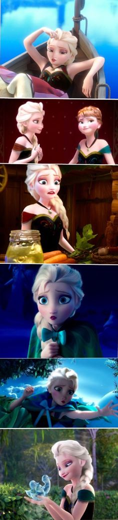 Elsa as Anna<<<Omg I love it :D<< it just doesn't look right cause she's so sophisticated and Anna is such a clumsy klutz lol but I like it