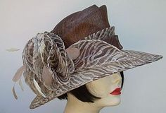 Brown/Ivory Derby hat from HAT-A-TUDE...  Wild Thing!