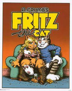Fritz the Cat Robert Crumb Comic Art Poster 24x30