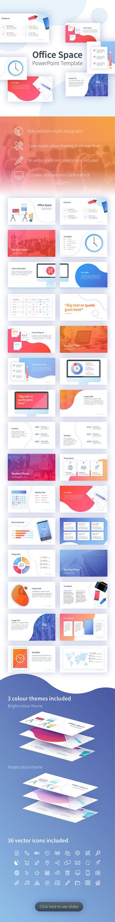 Buy Office Space PowerPoint Template by MonoDesignDerby on GraphicRiver. Office Space PowerPoint Template This creative PowerPoint template uses a range of unique and modern illustrations to. Presentation Slides, Presentation Design, Presentation Templates, Keynote Design, Creative Powerpoint Templates, Charts And Graphs, Catalog Design, Party Flyer, Keynote Template