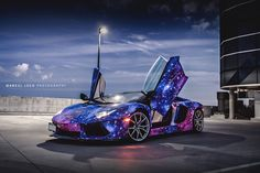 Modified 2014 Lamborghini Aventador Roadster Galaxy Car Wrap - http://www.modifiedcars.com/cars/490443/modified-2014-lamborghini-aventador-roadster-galaxy-wrap
