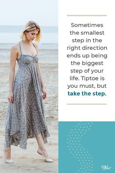 Sometime the smallest step in the right direction ends up being the biggest step of your life. Tiptoe if you must, but take the step. Best Entrepreneurs, Business Tips, Entrepreneurship, Mindset, Money, Life, Silver