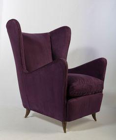 Sculptural Wingback Chair | Paolo Buffa Bergere | Mid Century Modern