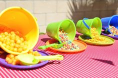 Beach Ball themed birthday party via Kara's Party Ideas KarasPartyIdeas.com Cake, decor, supplies, cupcakes, banners, tutorials and more! #beachballparty #beachball (15)